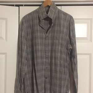 John varvatos lightweight plaid shirt